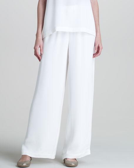 Flared Silk Trousers