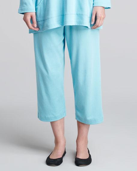 Japanese Pima Cotton Trousers, Turquoise