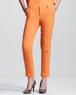 Roland Mouret Carillon Double-Face Crepe Trousers