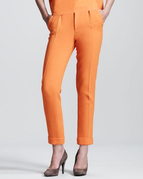 Carillon Double-Face Crepe Trousers