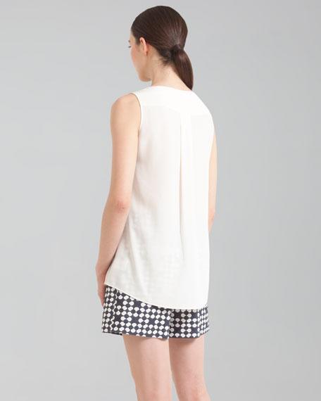 Printed Shorts, Marine/Creme