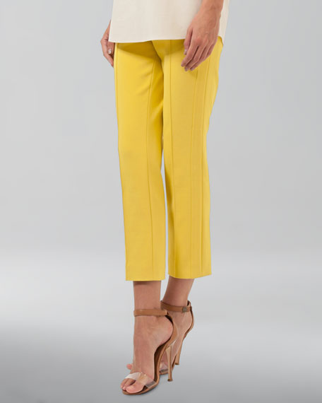 Cropped Pants, Citron