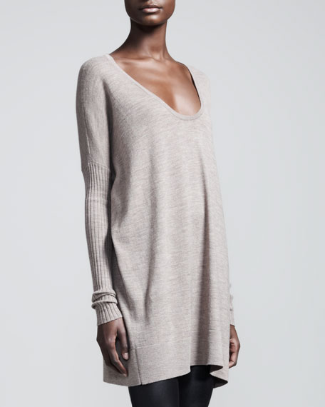 Scoop-Neck Wool Sweater