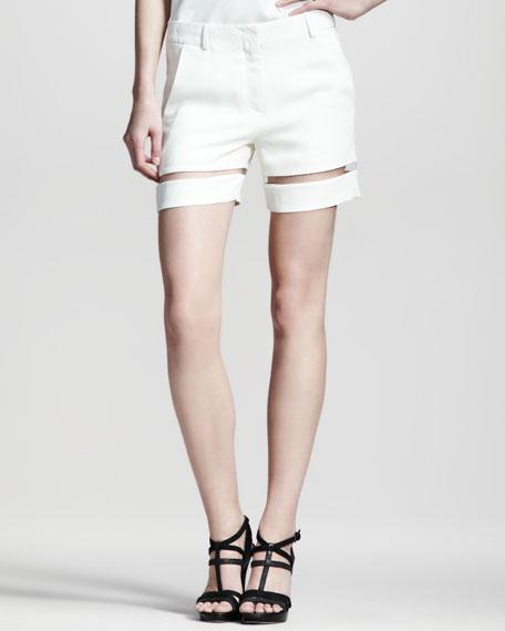 Sheer-Stripe Shorts