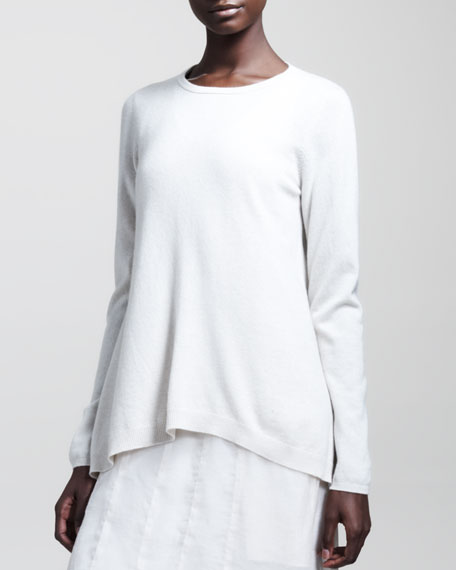 Two-Ply Cashmere Trapeze Pullover