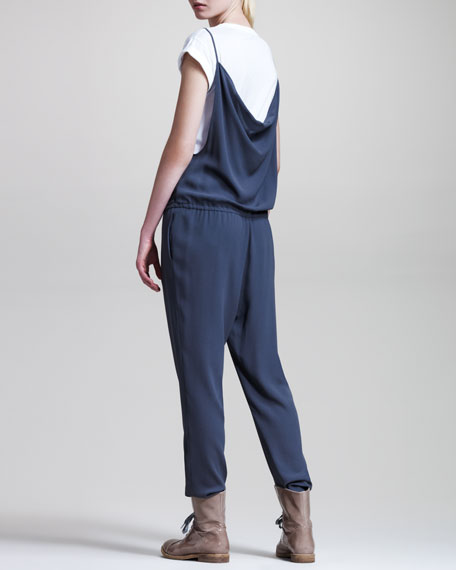 Drape-Back Jumpsuit