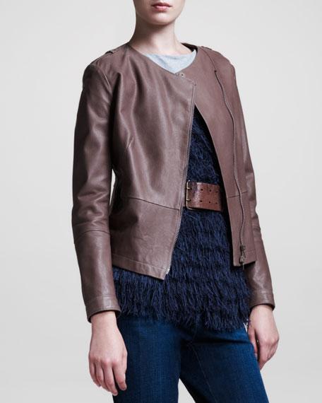 Hammered Leather Jacket