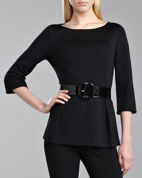 Milano Peplum Top
