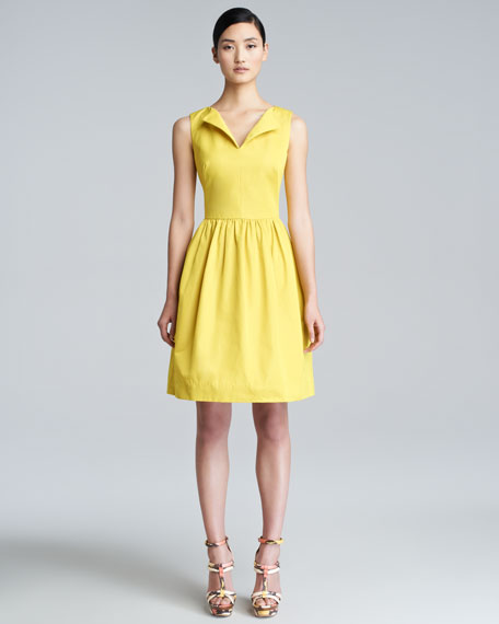 Split-Neck A-Line Dress