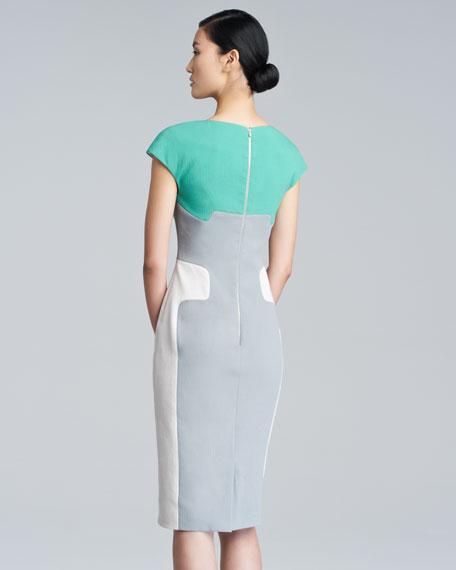 Contour Colorblock Sheath Dress