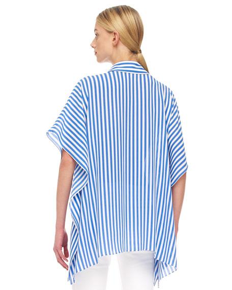 Striped Kimono Blouse