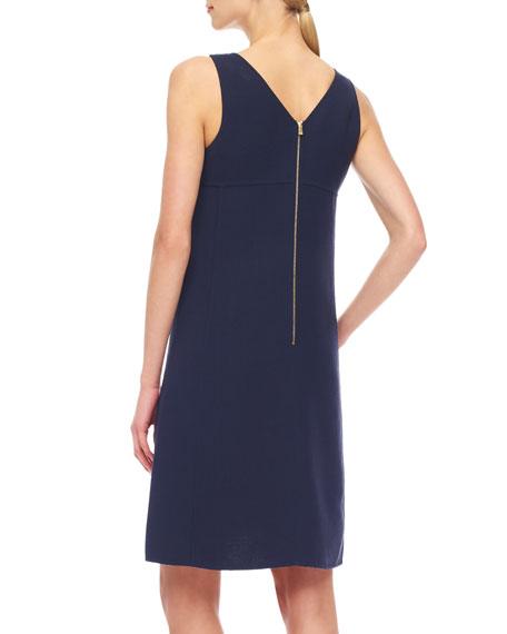 Crepe Zip Dress