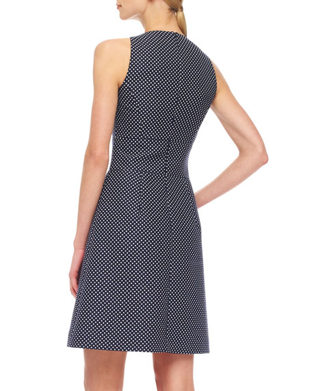 Dotted Jacquard Dress