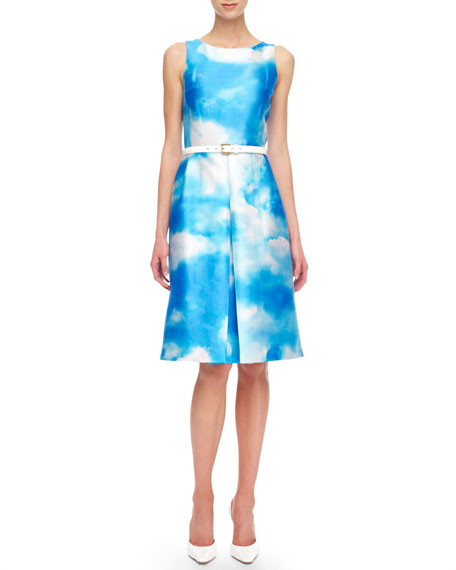Cloud-Print Dress