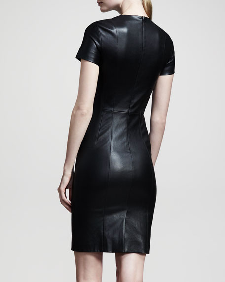 Shiny Leather Dress, Black
