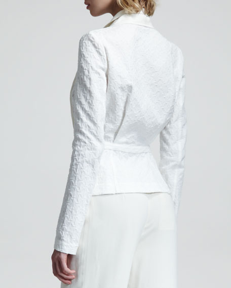 Macro Cotton Jacquard Jacket