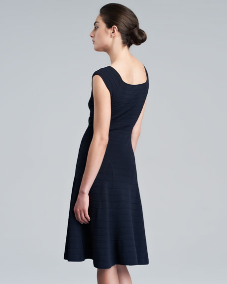 Cap-Sleeve Fit-and-Flare Dress