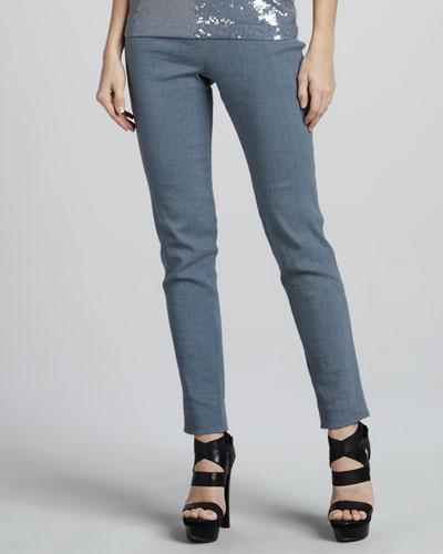 Donna Karan Side-Zip Ankle Pants, Tempest