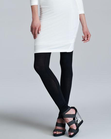 Knit Leggings, Black