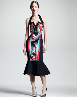 Peter Pilotto Victoria Halter Flounce Dress