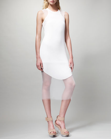 Sleeveless Ribbed Dress