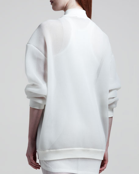 Sheer Sweatshirt Jacket