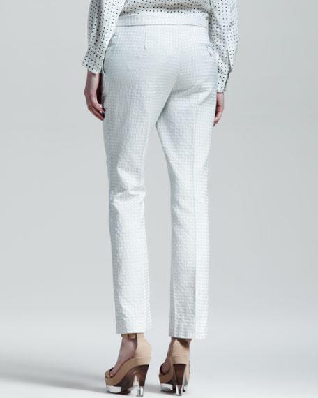 Dot Jacquard Slim Pants, Paper