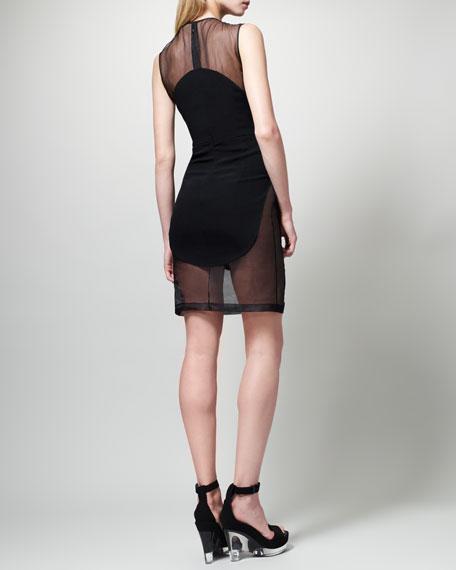 Organza-Inset Dress