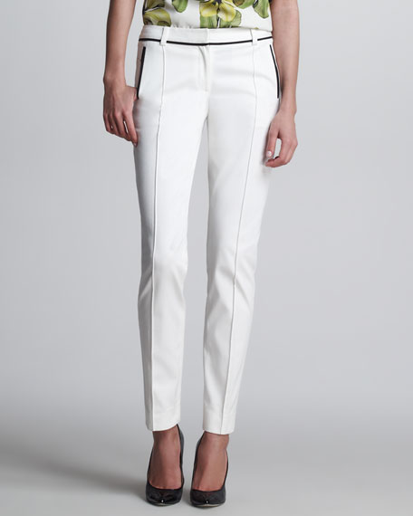 Stovepipe Flat-Front Pants