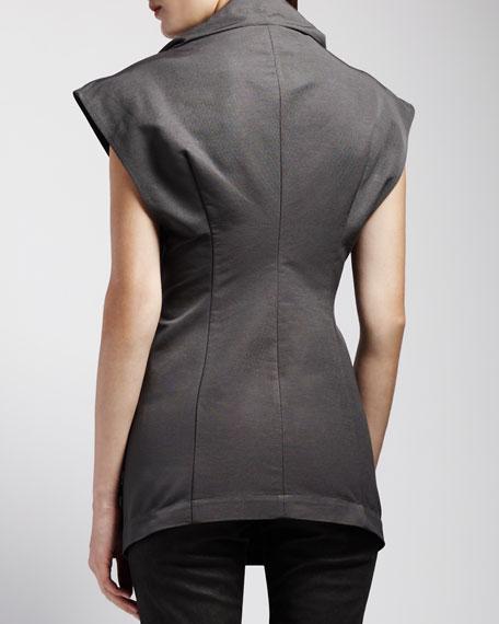 Sleeveless Asymmetric Jacket