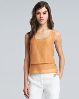 THE ROW Sona Sleeveless Tank, Marigold