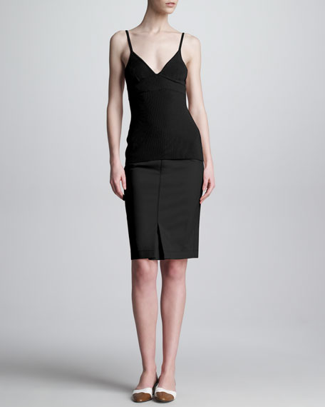 Tubino Exposed-Zip Pencil Skirt