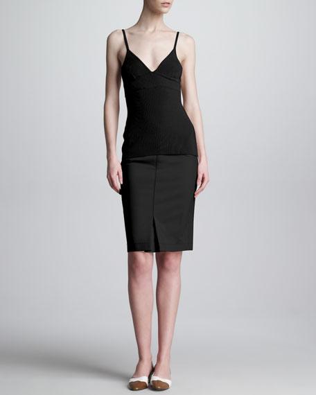 Tubino Exposed-Zip Pencil Skirt