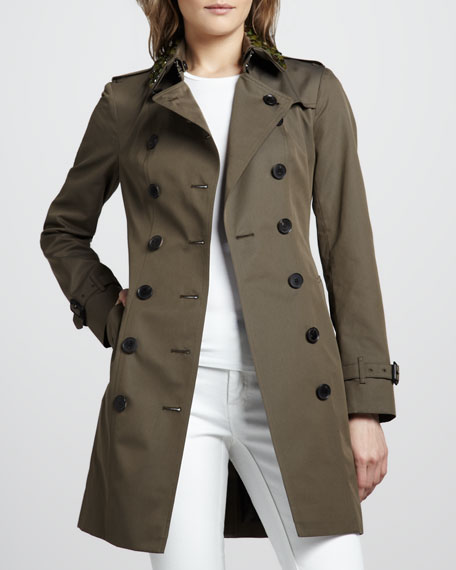 Beaded Cotton Trenchcoat