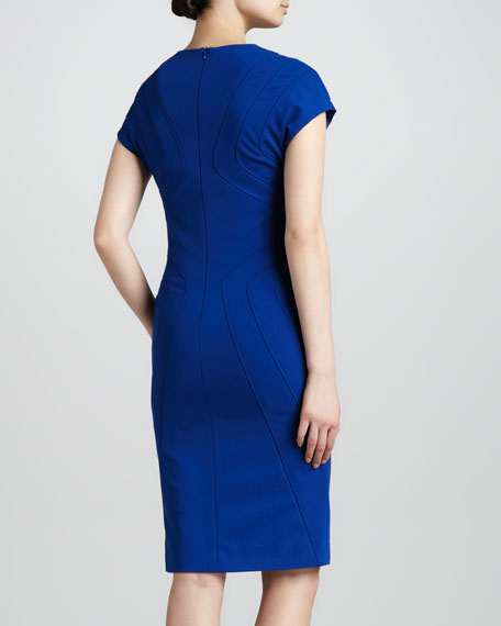 Scuba Jersey Dress, Blue