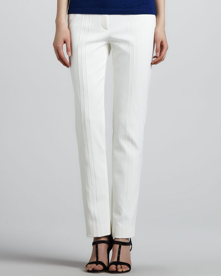 Tech Fabric Ankle Pants, White