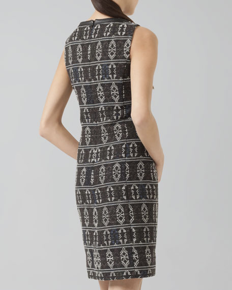 Tribal Jacquard-Print Shift Dress