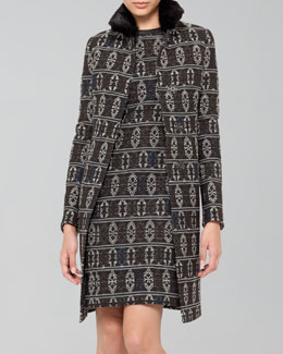 Akris punto Tribal-Print Jacquard Coat