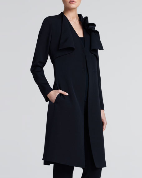 black ottoman coat w/ side s