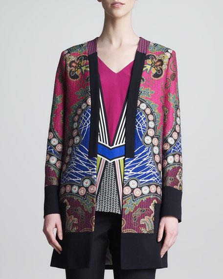 Printed Jacket, Pink/Blue