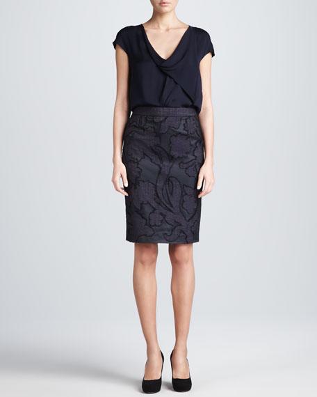 Floral-Front Skirt
