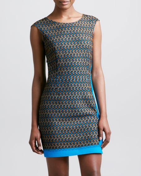 Macrame Dress, Turquoise/Multi