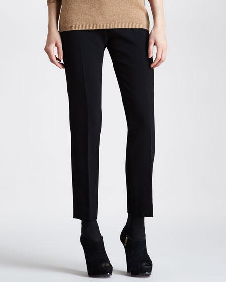 Skinny Crepe Ankle Pants