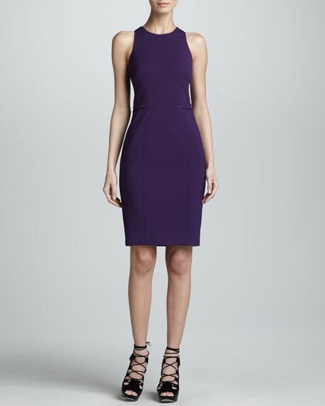 Fitted Racerback Sheath Dress, Violet