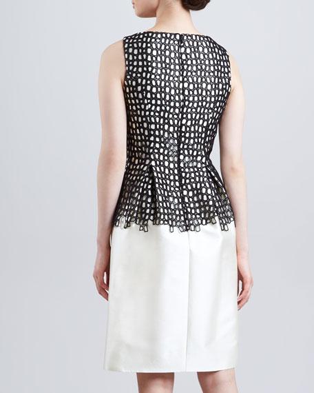Lace-Bodice Sheath Dress