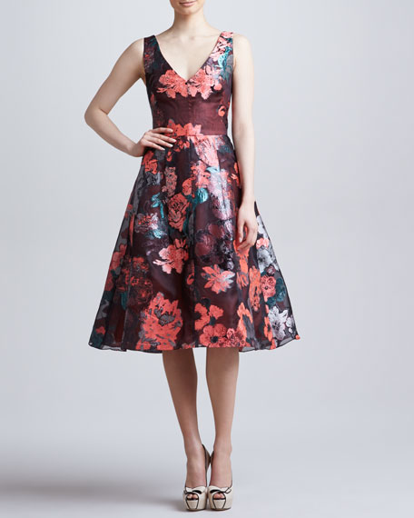Sleeveless Dress with Full Skirt