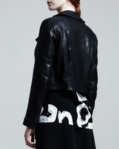 Lamb Leather Motorcycle Jacket