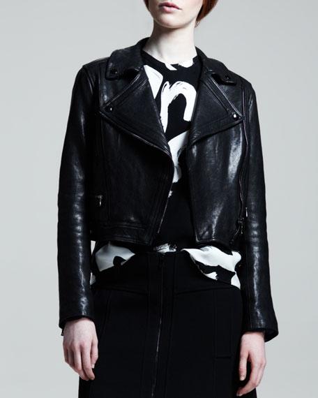 Lamb Leather Motorcycle Jacket