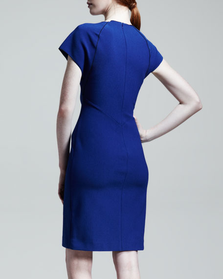 Dart Piped Pencil Dress