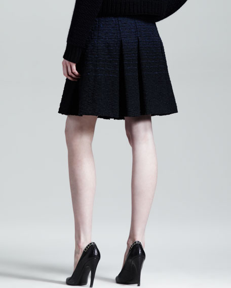 Nubby Ombre Pleated Skirt